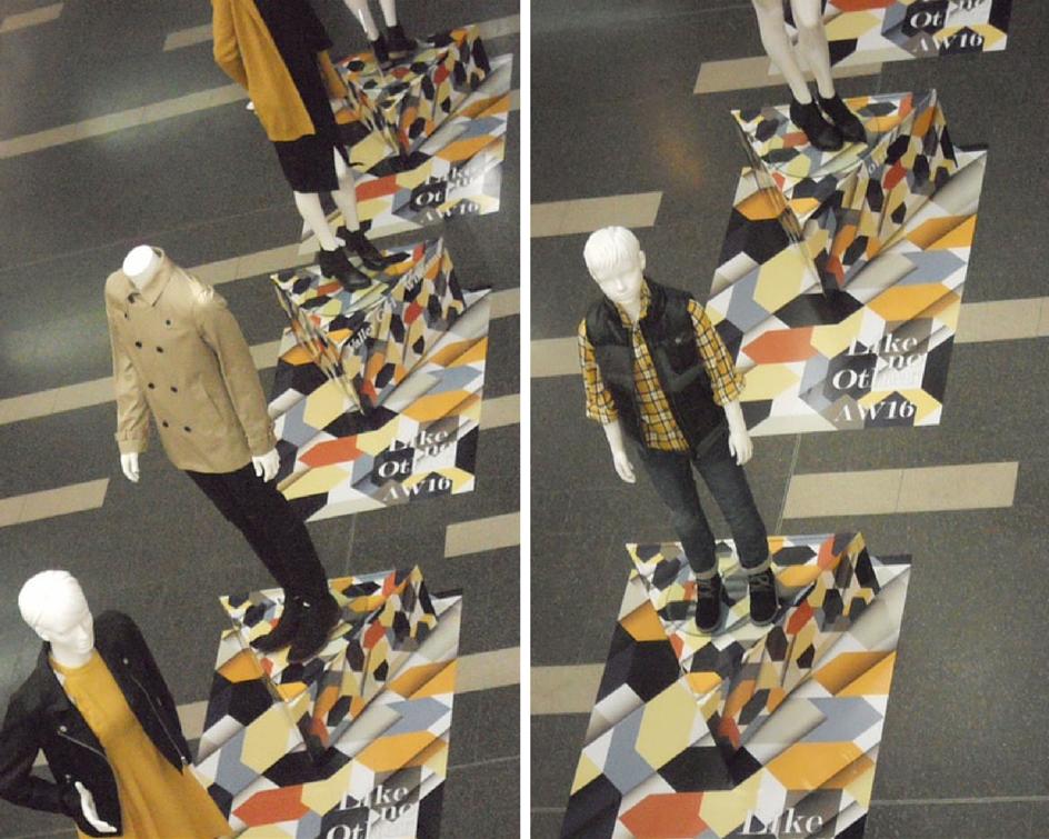 Shopping Centre Visual Merchandising | Autumn Winter 2016 | Retail Display | Mannequins Merchandising | Styling