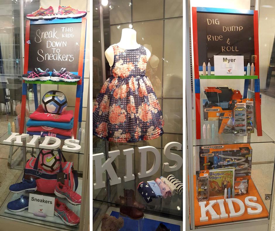School Holidays, Visual Merchandising Installation @Roselands Shopping Centre